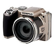 Olympus SP-720UZ 14MP 26x Zoom Digital Camera w/ Accessories - E223279
