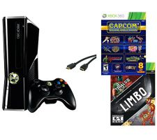 Microsoft Xbox 360 250GB with 2 Games & HDMI Cable