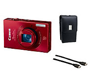 Canon ELPH 520 10.1MP 12X Optical Zoom DigitalCamera Bundle - E266980