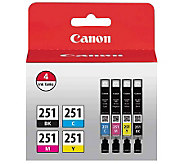 Canon CLI-251 BK/CMY 4 Value Pack Ink - E268981
