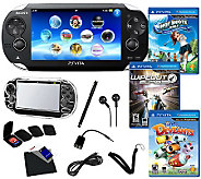 PS Vita 3-Game Bundle with Wi-Fi and Accessories - E264192