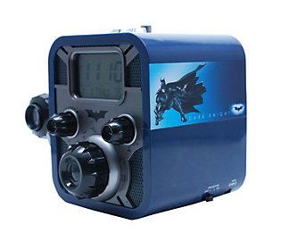 digital blue batman alarm clock radio w bat sigal projection. Black Bedroom Furniture Sets. Home Design Ideas