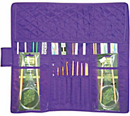 Purple Quilted Cotton Knitting Needle Case - F161035