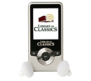 Library of Classics MP3 Player w/100 Pre-loaded Books & Music - F10943