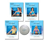 Physique 57 Complete Body Workout with 4 DVDs & Fitness Ball - F09786