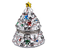 Mr. Christmas Illuminated Silver Porcelain Music Box - H189402