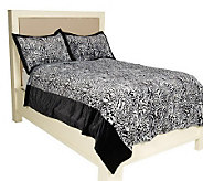 Dennis Basso Faux Fur 3-piece Full Coverlet and Shams - H190302