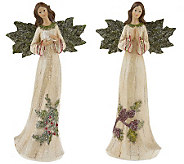 Set of 2 Holly Wing Angels by Valerie - H192502