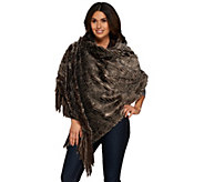 Dennis Basso Faux Fur 29x68 Wrap Throw with 8 Fringe - H193802