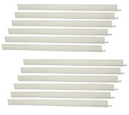 Set of 12 White Over the Door Hanger Strips by Lori Greiner - H198703