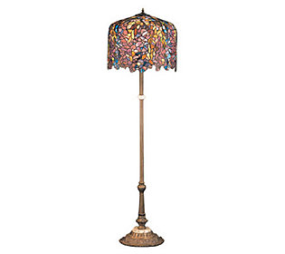 meyda tiffany style reproduction wisteria floor lamp. Black Bedroom Furniture Sets. Home Design Ideas