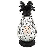 Home Reflections 17 Indoor Outdoor Pineapple Urn Candle & Timer - H195007