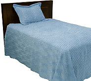 Northern Nights 100Cotton Aubusson Design Chenille Twin Bedspread Set - H19607