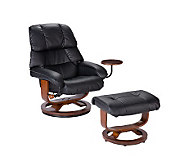 Kalidasa Leather Recliner and Ottoman - H356008