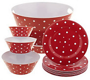 Temp-tations Polka Dot 13-pc Everyday Entertaining Set - H191809