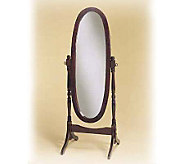 Cheval Mirror with Heirloom Cherry Finish - H117111