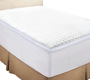 "H19911 Rest Assure 2"" Gusset Mattress Topper with Skirt & Water Guard"