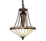 Tiffany Style 18&quotW Crestwood Inverted Pendant Light - H181314