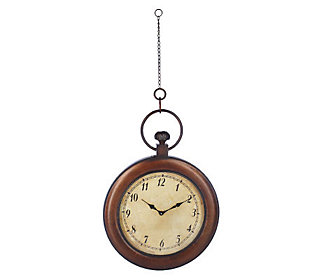 HomeReflections Oversized Hanging Pocket Watch Wall Clock ...