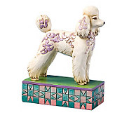 Jim Shore Heartwood Creek Poodle Figurine - H356018