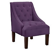 Tufted Swoop Velvet Arm Chair - H365920