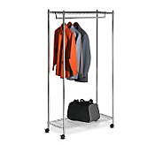 Honey-Can-Do Urban Garment Rack - Deluxe Commercial Chrome - H184024