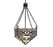 Tiffany Style 21 Wood Symbol Inverted PendantLight - H181328