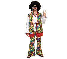 Hippie Man Plus Adult Halloween Costume