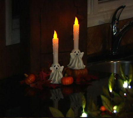 bethlehem lights set of 2 battery operated halloween candles timer. Black Bedroom Furniture Sets. Home Design Ideas