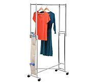 Honey-Can-Do Steel Double Folding Square Tube Garment Rack - H184036