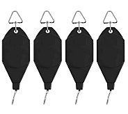 Set of 4 Telescoping Plant Hangers by Lori Greiner - H195041