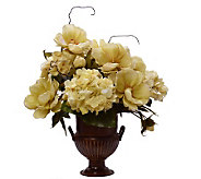 23 Cream Hydrangea and Magnolia Centerpiece byValerie - H357842