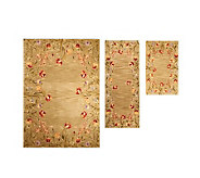 Royal Palace Floral Fields 3-pc. Room Size Handmade Wool Rug Set - H196744