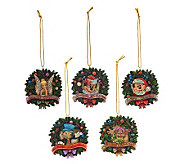 Jim Shore Disney Traditions 5-piece Wreath Ornament Set - H197545