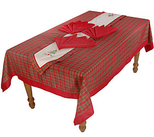 60 x 102 christmas tablecloth table runner and napkin set for 102 table runners