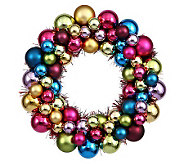 12 Colored  Ball Wreath by Vickerman - H354451