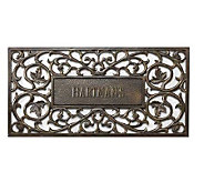 Personalized Aluminum Doormat - Filigree Design - H139255