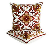 Bombay Set of 2 Embroidered Decorative Pillows - H195155