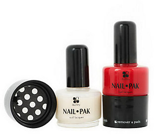 Set of 2 Nail Pak All n 1 Polish Remover & File by Lori Greiner