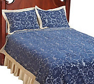 Amadeus Chenille Full Size Coverlet and Sham Set - H191256