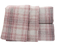 Amadeus Carl Heather Flannel Stripe Sheet Set - H195961