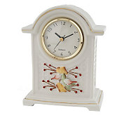 Belleek Autumn Clock with Gold Trim - H193664