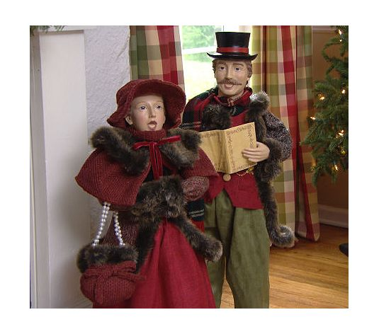 "Christmas Decorations Carolers Set: Set Of 2 33""-35"" Dickens Adult Christmas Carolers By"