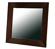 Daffodil Square Mirror in Light Cappuccino Rubberwood Frame - H359669