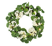 Bethlehem Lights Battery Op. 22 Geranium Wreath w/ Timer - H191071