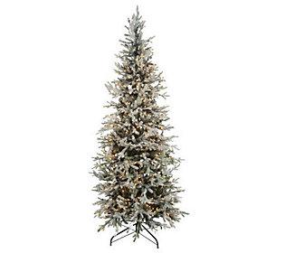 BethlehemLights Prelit 65 Flocked Christmas Tree     QVCcom WsPhqV48