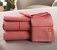 Liz Claiborne New York Solid Oxford Sheet Set - H168077
