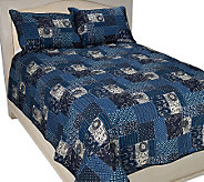 Indigo Blue Quilt and Sham Set - H194077