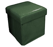 Faux Leather Fold-Up Storage Ottoman by Valerie - H168880