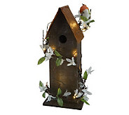 Bethlehem Lights Battery Op. 16 Birdhouse w/ Lights - H194082